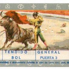 Tauromaquia: ENTRADA PLAZA DE TOROS DE TORRELAVEGA TENDIDO SOL PUERTA 3 CORRIDA DE TOROS 15/08/1972 CANTABRIA. Lote 223817886