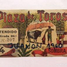 Tauromaquia: TAUROMAQUIA. ENTRADA PLAZA DE TOROS VALENCIA, TENDIDO GRADA 20A., LIT, ORTEGA (A.1899). Lote 226843740