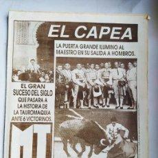 Tauromaquia: EL MUNDO DE LOS TOROS Nº 1159. 5 JULIO 1988. EL CAPEA. TDK309B. Lote 226909935