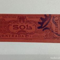 Tauromaquia: ENTRADA DE TOROS. SOL. PLAZA DE TOROS JEREZ DE LA FRONTERA. CORRIDA DEL COMERCIO E INDUSTRIA.1905. Lote 227189220