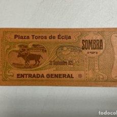 Tauromaquia: ENTRADA DE TORO. PLAZA DE TOROS DE ÉCIJA. SEPTIEMBRE DE 1925. VER FOTOS. Lote 227191670