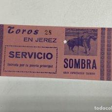 Tauromaquia: ENTRADA DE TORO. PLAZA DE TOROS DE JEREZ. GRAN ESPECTACULO TAURINO. VER FOTOS. Lote 227191995