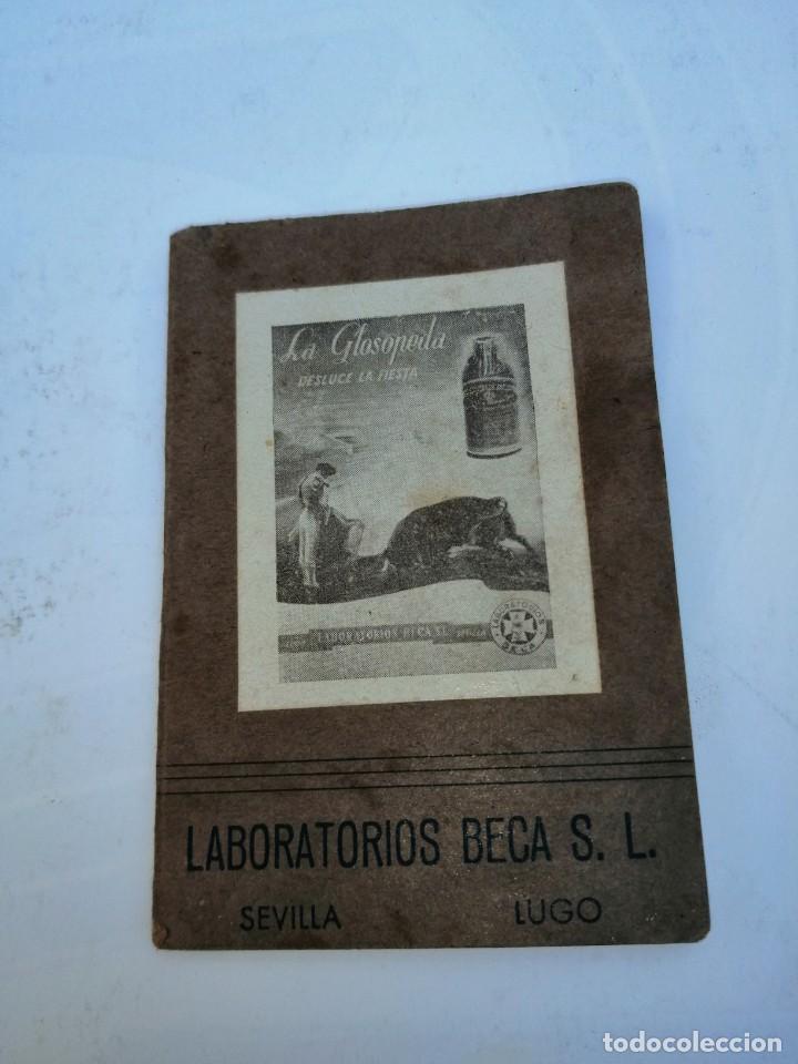 REGLAMENTO TAURINO LA GLOSOPEDA LABORATORIOS BECA S. L SEVILLA (Coleccionismo - Tauromaquia)