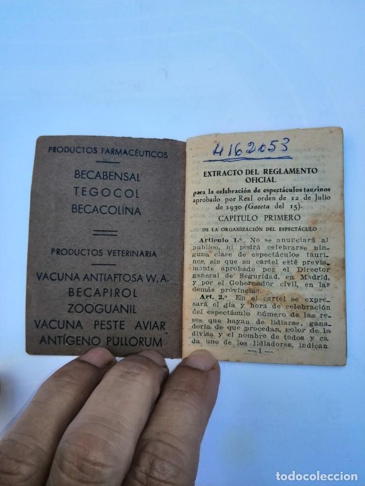 Tauromaquia: Reglamento taurino La Glosopeda laboratorios Beca S. L Sevilla - Foto 2 - 227994695