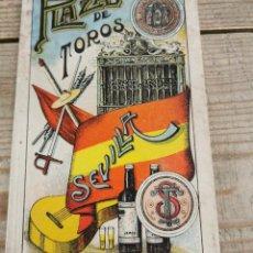 Tauromaquia: SEVILLA, 1914, PROGRAMA NOVILLADA NOCTURNA, VARELITO,CHANITO Y EDUARDO ARIAS, VER IMAGENES. Lote 228093766