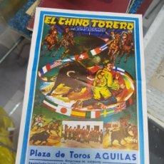 Tauromaquia: ESPECTACULO TAURINO COMICO EL CHINO TORERO PLAZA DE TOROS AGUILAS MURCIA 1983. Lote 228882660