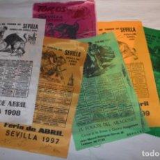 Tauromaquia: LOTE 04 / LOTE DE CARTELES DE TOROS / SEDA - MUY VARIADOS - ¡MIRA FOTOS Y DETALLES!. Lote 229233740