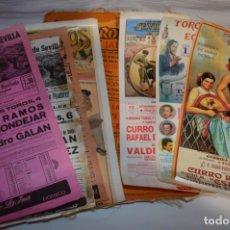 Tauromaquia: LOTE 05 / LOTE DE CARTELES ANTIGUOS DE TOROS - MUY VARIADOS - ¡MIRA FOTOS Y DETALLES!. Lote 229233900