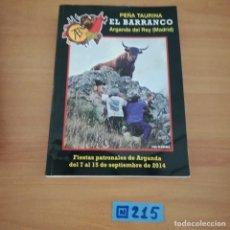 Tauromaquia: PEÑA TAURINA AL BARRANCO ARGANDA DEL REY. Lote 230354065