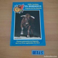 Tauromaquia: PEÑA TAURINA AL BARRANCO ARGANDA DEL REY. Lote 230354155