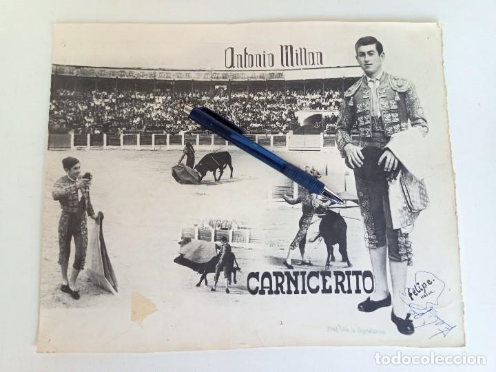CARTEL PUBLICITARIO DEL TORERO CARNICERITO DE ÚBEDA (Coleccionismo - Tauromaquia)
