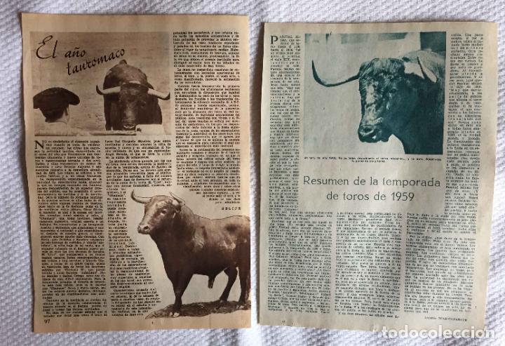 Tauromaquia: Artículos: El año taurómaco (Selipe, 1956) y Temporada de toros (Díaz Cañabate, 1959) ABC Originales - Foto 4 - 233523930