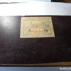Tauromaquia: MAGNIFICO ANTIGUO ALBUM CON RECORTES DE DIARIOS TOROS Y ENTRADAS. Lote 234708295