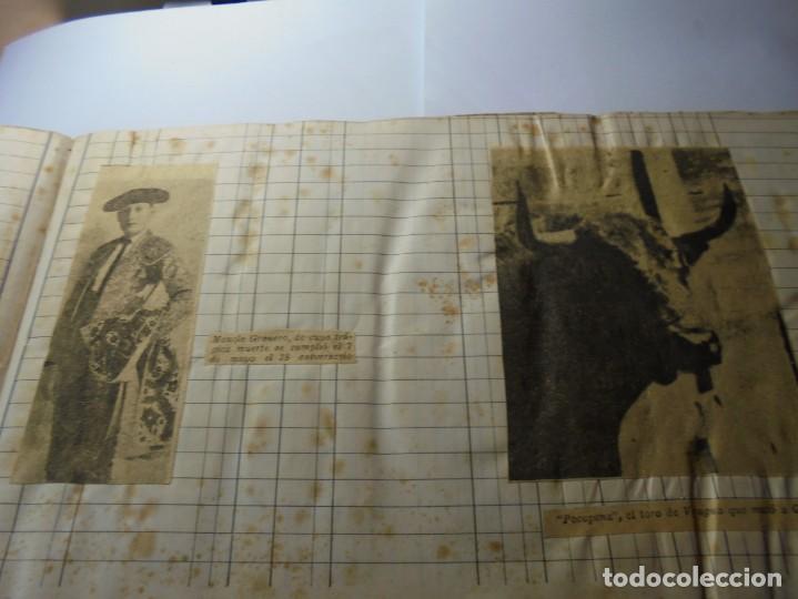 Tauromaquia: magnifico antiguo album con recortes de diarios toros y entradas - Foto 4 - 234708295
