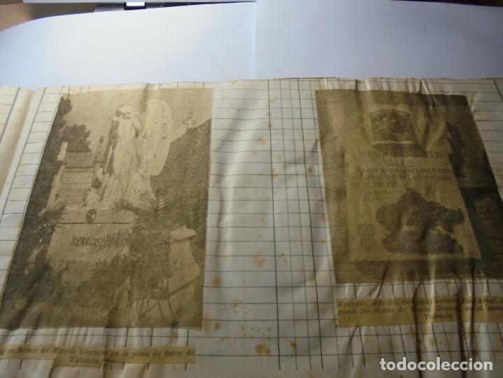 Tauromaquia: magnifico antiguo album con recortes de diarios toros y entradas - Foto 5 - 234708295