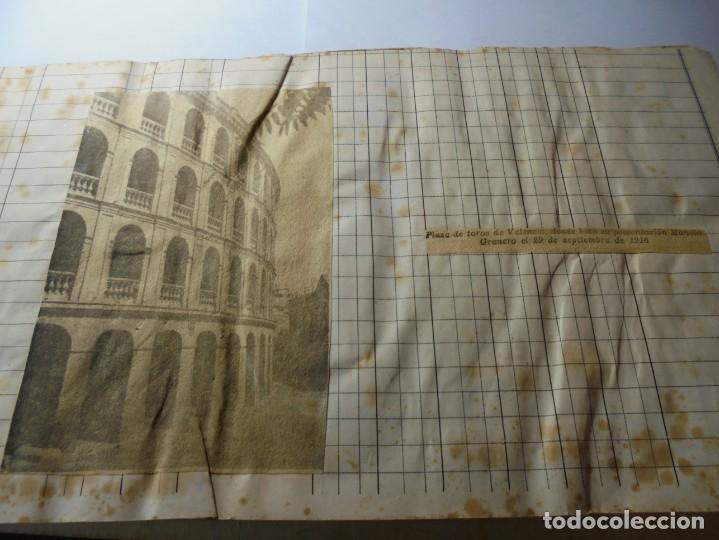 Tauromaquia: magnifico antiguo album con recortes de diarios toros y entradas - Foto 6 - 234708295