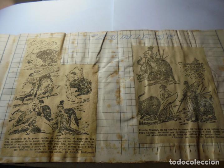 Tauromaquia: magnifico antiguo album con recortes de diarios toros y entradas - Foto 8 - 234708295