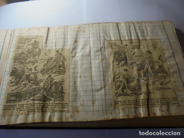 Tauromaquia: magnifico antiguo album con recortes de diarios toros y entradas - Foto 9 - 234708295