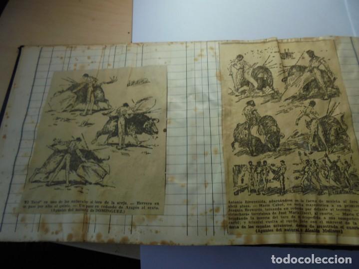 Tauromaquia: magnifico antiguo album con recortes de diarios toros y entradas - Foto 11 - 234708295
