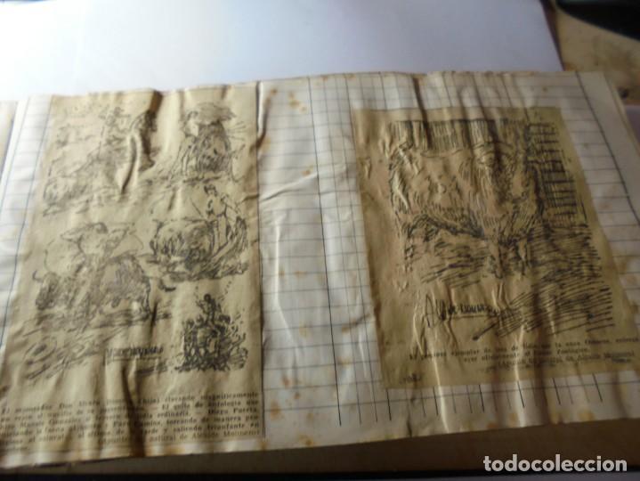Tauromaquia: magnifico antiguo album con recortes de diarios toros y entradas - Foto 12 - 234708295