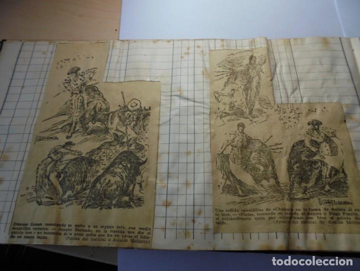 Tauromaquia: magnifico antiguo album con recortes de diarios toros y entradas - Foto 13 - 234708295