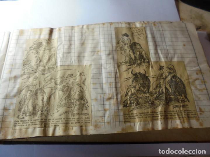Tauromaquia: magnifico antiguo album con recortes de diarios toros y entradas - Foto 14 - 234708295