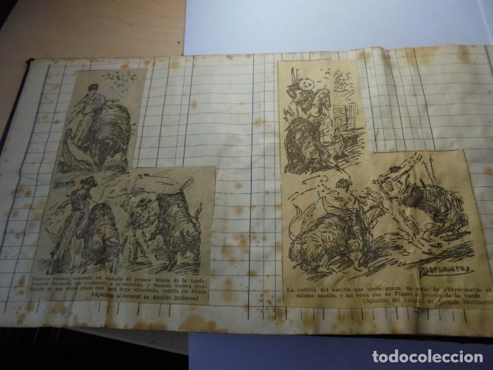 Tauromaquia: magnifico antiguo album con recortes de diarios toros y entradas - Foto 15 - 234708295