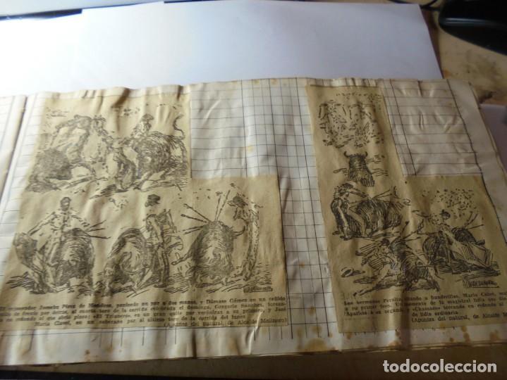 Tauromaquia: magnifico antiguo album con recortes de diarios toros y entradas - Foto 16 - 234708295