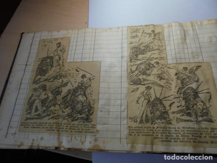 Tauromaquia: magnifico antiguo album con recortes de diarios toros y entradas - Foto 17 - 234708295