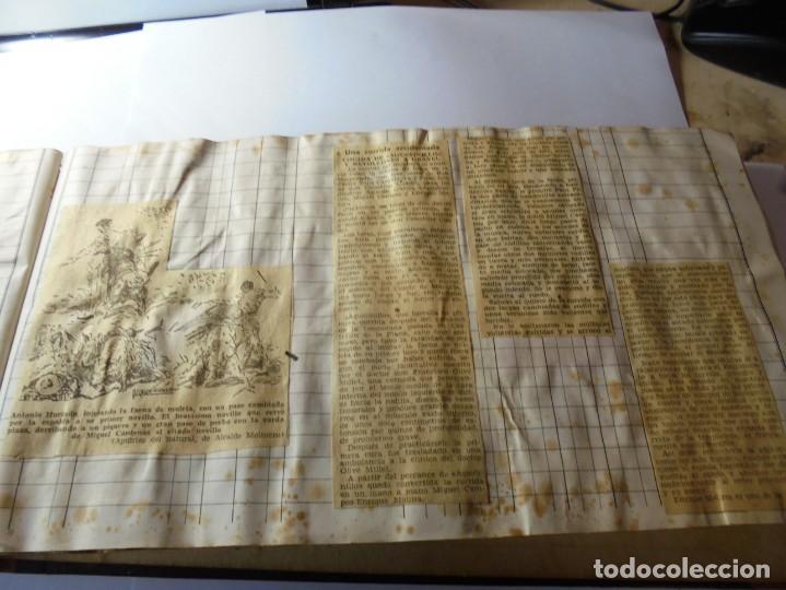 Tauromaquia: magnifico antiguo album con recortes de diarios toros y entradas - Foto 18 - 234708295