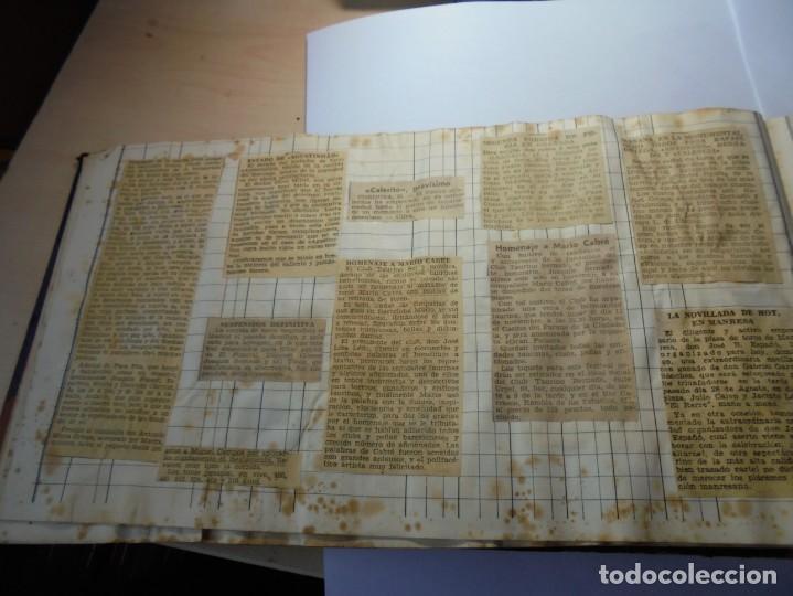 Tauromaquia: magnifico antiguo album con recortes de diarios toros y entradas - Foto 19 - 234708295