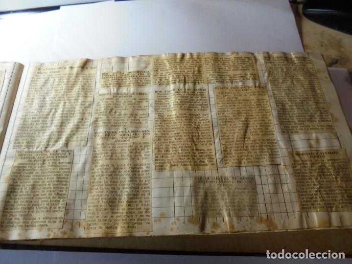 Tauromaquia: magnifico antiguo album con recortes de diarios toros y entradas - Foto 20 - 234708295