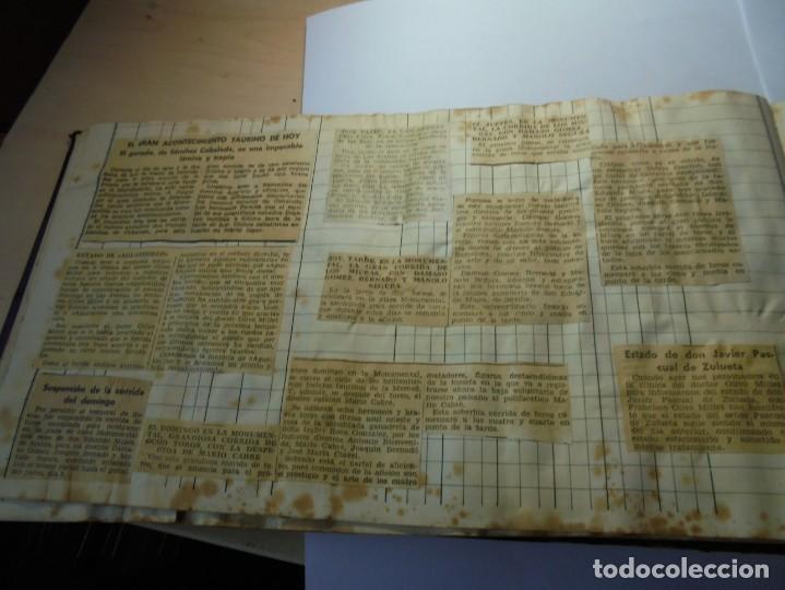 Tauromaquia: magnifico antiguo album con recortes de diarios toros y entradas - Foto 21 - 234708295