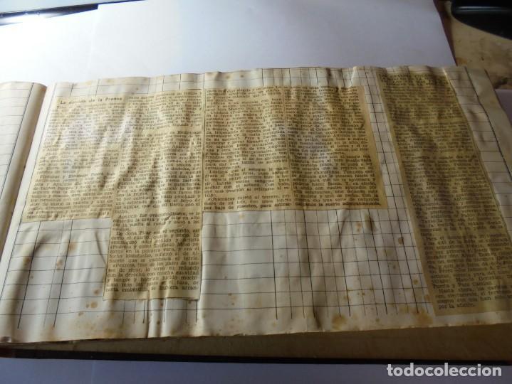 Tauromaquia: magnifico antiguo album con recortes de diarios toros y entradas - Foto 22 - 234708295