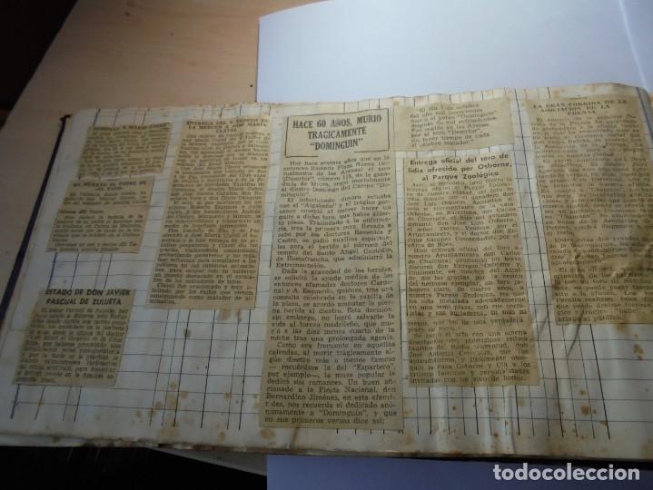 Tauromaquia: magnifico antiguo album con recortes de diarios toros y entradas - Foto 23 - 234708295