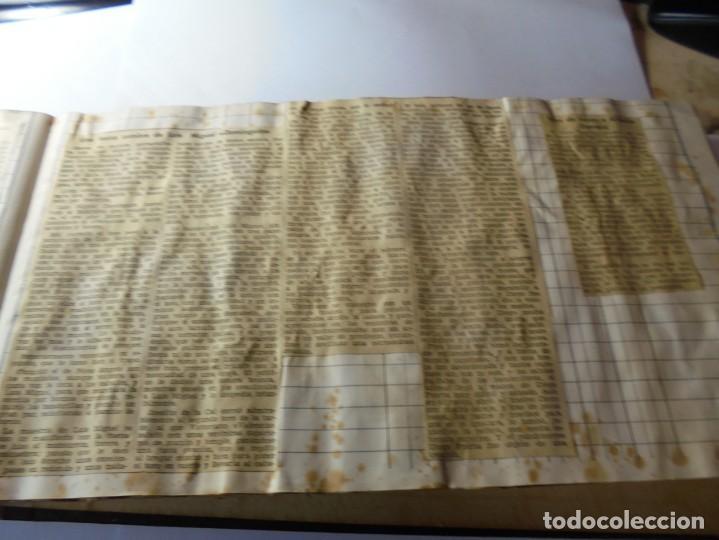 Tauromaquia: magnifico antiguo album con recortes de diarios toros y entradas - Foto 24 - 234708295