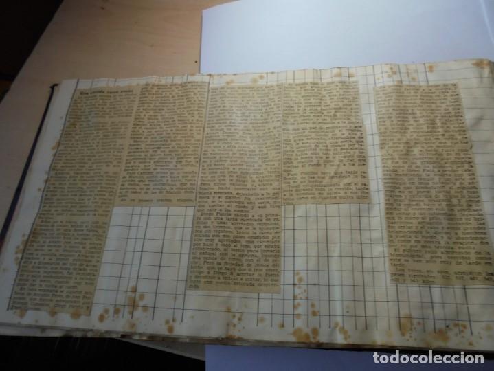 Tauromaquia: magnifico antiguo album con recortes de diarios toros y entradas - Foto 25 - 234708295