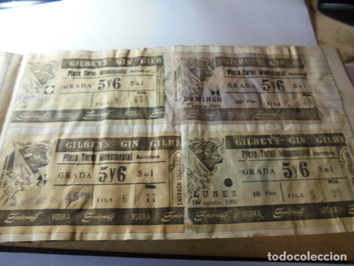 Tauromaquia: magnifico antiguo album con recortes de diarios toros y entradas - Foto 28 - 234708295