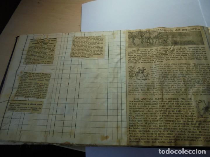 Tauromaquia: magnifico antiguo album con recortes de diarios toros y entradas - Foto 29 - 234708295