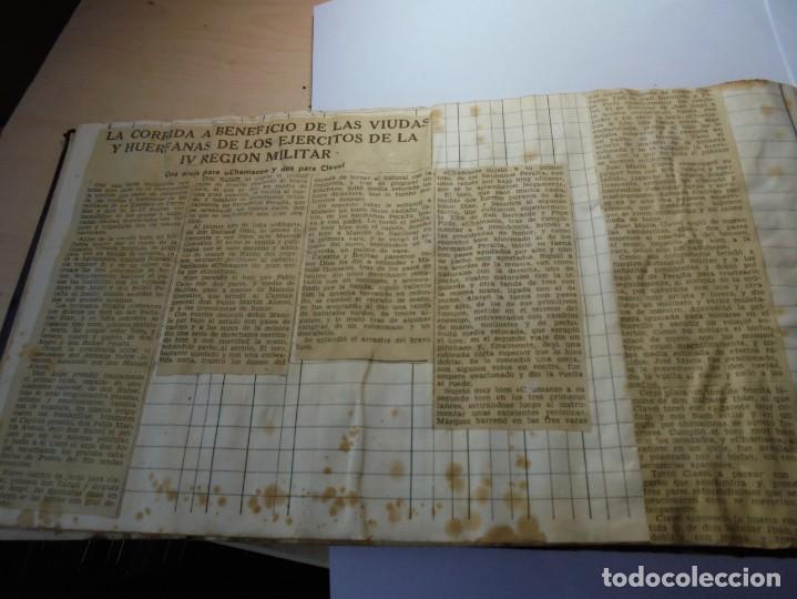 Tauromaquia: magnifico antiguo album con recortes de diarios toros y entradas - Foto 31 - 234708295