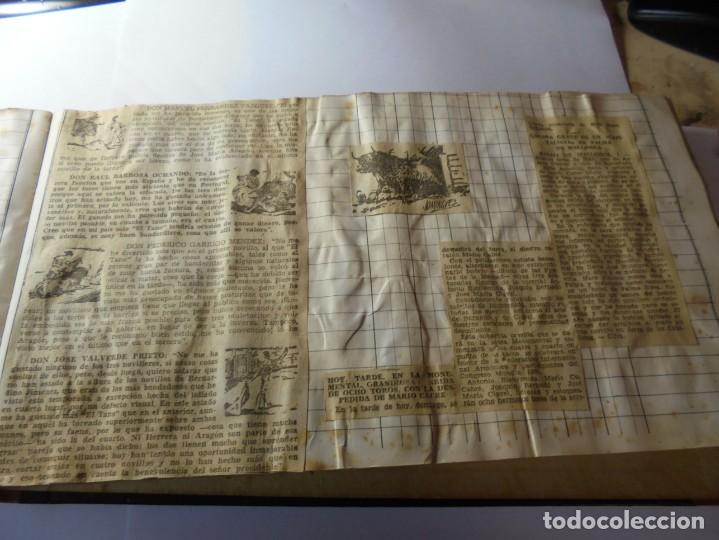 Tauromaquia: magnifico antiguo album con recortes de diarios toros y entradas - Foto 32 - 234708295