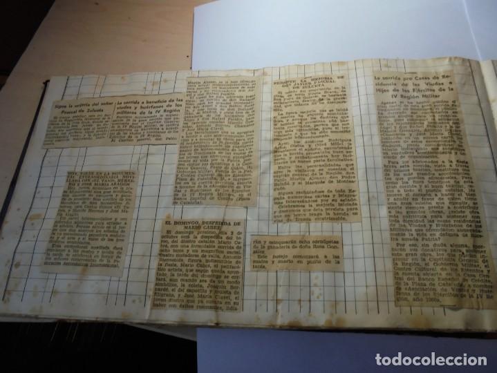 Tauromaquia: magnifico antiguo album con recortes de diarios toros y entradas - Foto 33 - 234708295