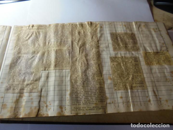 Tauromaquia: magnifico antiguo album con recortes de diarios toros y entradas - Foto 34 - 234708295