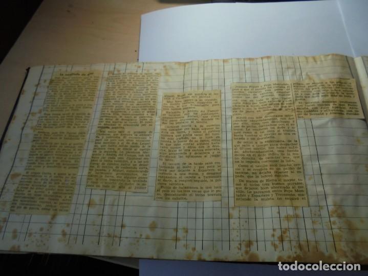 Tauromaquia: magnifico antiguo album con recortes de diarios toros y entradas - Foto 35 - 234708295