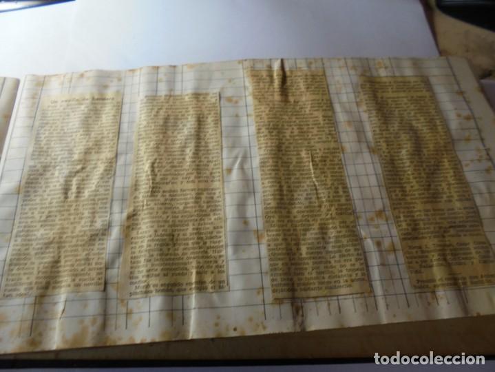 Tauromaquia: magnifico antiguo album con recortes de diarios toros y entradas - Foto 36 - 234708295