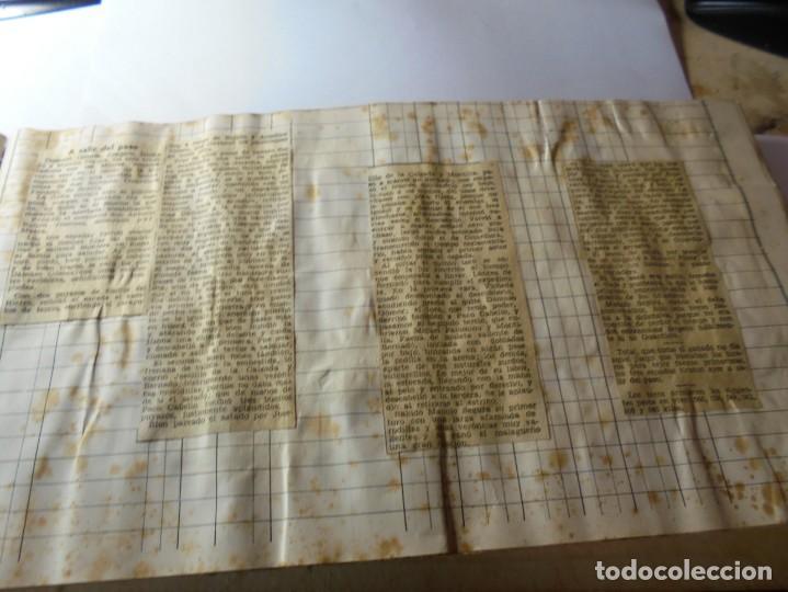 Tauromaquia: magnifico antiguo album con recortes de diarios toros y entradas - Foto 38 - 234708295