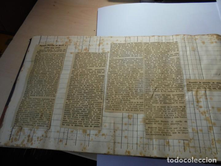 Tauromaquia: magnifico antiguo album con recortes de diarios toros y entradas - Foto 39 - 234708295