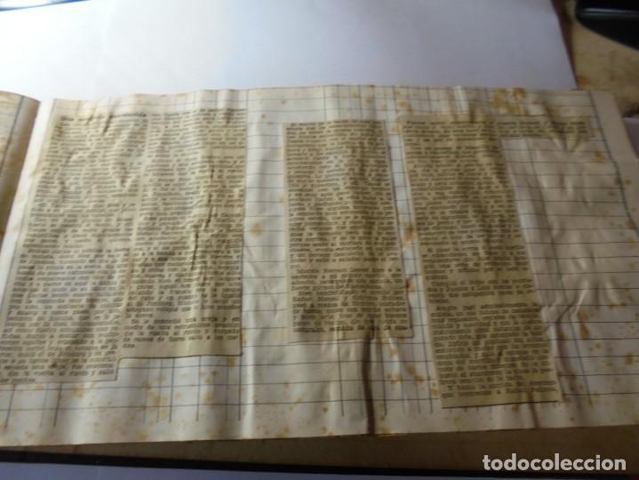 Tauromaquia: magnifico antiguo album con recortes de diarios toros y entradas - Foto 40 - 234708295