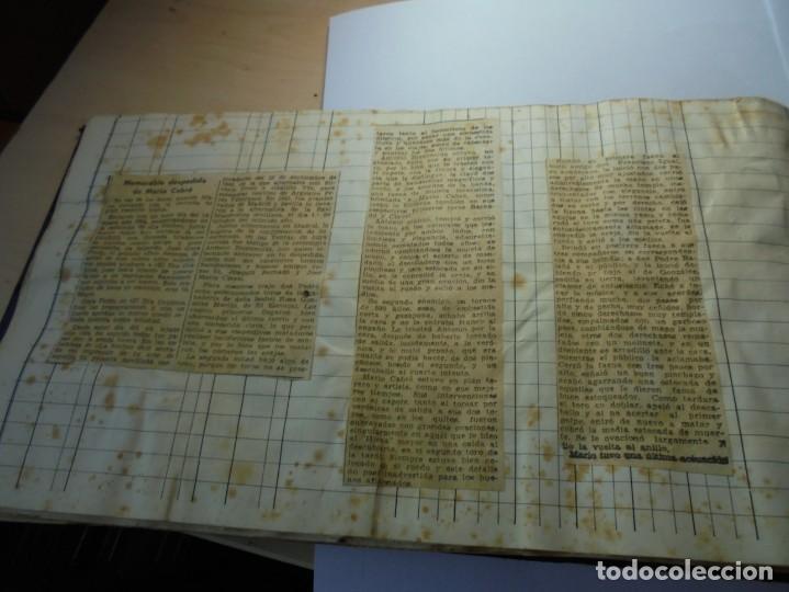 Tauromaquia: magnifico antiguo album con recortes de diarios toros y entradas - Foto 41 - 234708295