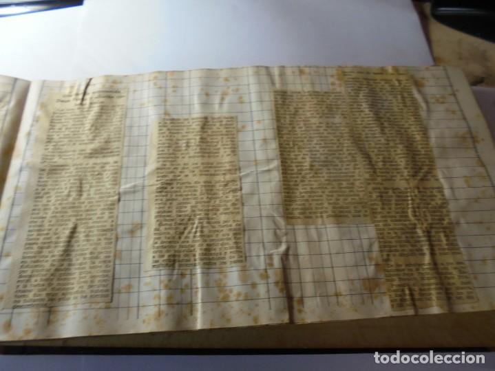 Tauromaquia: magnifico antiguo album con recortes de diarios toros y entradas - Foto 42 - 234708295